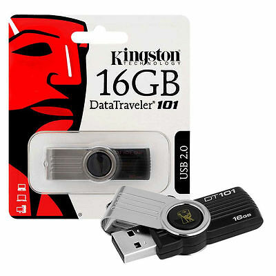 NEW 16GB Kingston Data Traveler 101 G2 USB 2.0 Flash Drive USB Memory Stick 16GB
