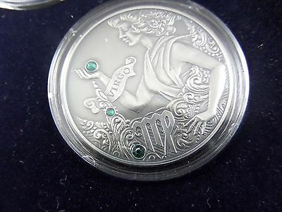 2014 Belarus Signs of the Zodiac 20 Rubles Virgo Sterling Silver Coin