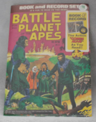 Rare Vintage - Battle For The Planet Of The Apes - Book & Record Set - 1974