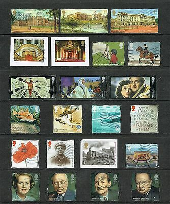 2014 Selection of Used Commemorative Stamps from 2014