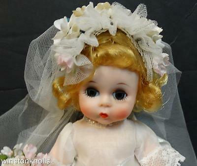 "Vintage Madame Alexander 8"" Wendy-Kins 630 Bride Bent Knees With Box  ***look***"