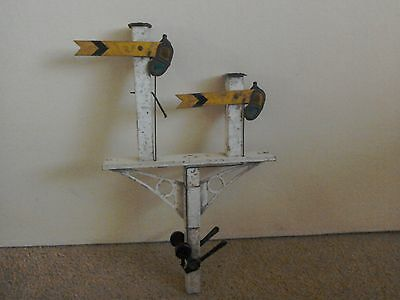 Early Tinplate Twin Signals.........O gauge size
