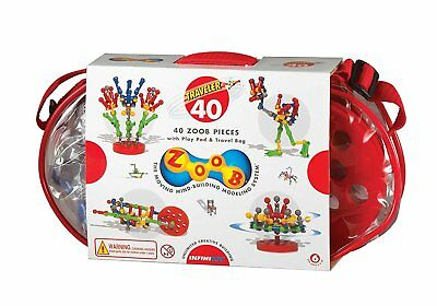 Zoob BuilderZ Traveler 40 Colorful ZOOB Pieces For Kids 0Z11040 New