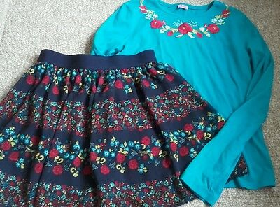 GIRLS POPPY SKIRT & TOP OUTFIT Excellent Condition 13-14 years