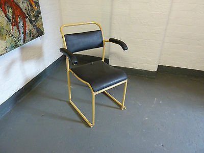 1950s Industrial Metal Desk Arm Chair by Matthews, Liverpool (20C474)