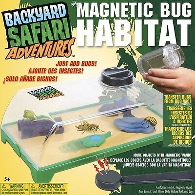 Backyard Safari Magnetic Bug Habitat With Removable, Easy Clean Lid 0T2480204TL