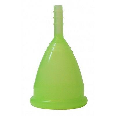 Reusable Menstrual Cup Period Cup Size Small & Large UK SELLER Green