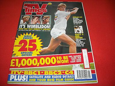 Tv Times 22-28 June 1991 Wimbledon Special - Scarce Collectable