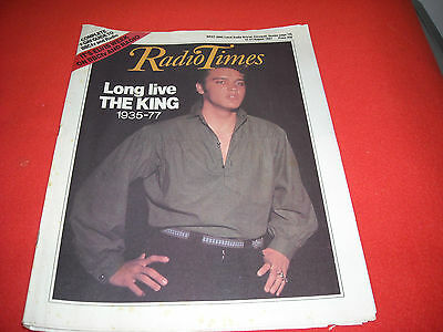 Radio Times 15-21 August 1987 10 Year Anniversary Of Elvis - Scarce Collectable
