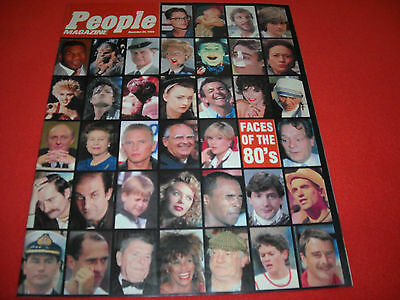 Sunday People Magazine 'faces Of The 80's 1989 - Scarce Collectable