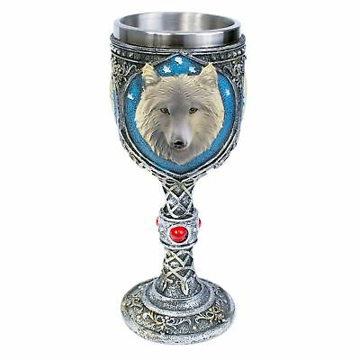 Decorative Wolf Goblet 19cm High Lycanthrope Gothic Chalice Pagan Mediaeval