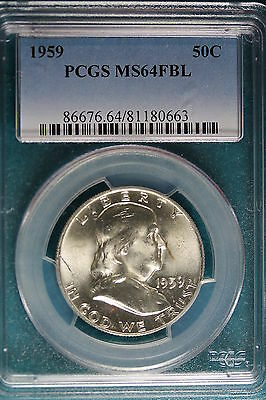 1959-P PCGS MS64 FULL BELL LINES  Franklin Half Dollar!!#B2685