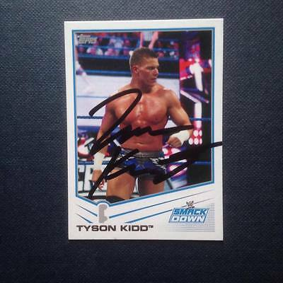 WWE Tyson Kidd signed trading card