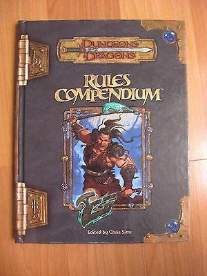 Rules Compendium Dungeon & Dragons 3.0/3.5 D20  WOTC used
