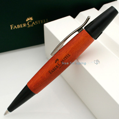 Faber-Castell Ballpoint pen e-motion wood Barrel of brown pearwood (#148301)
