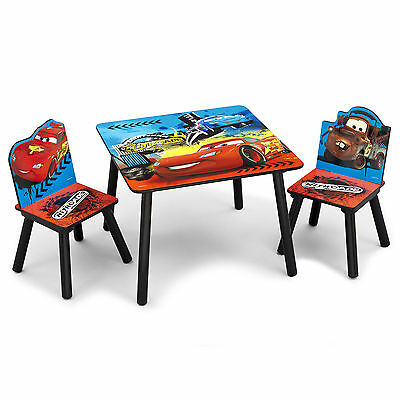 New Delta Children Disney Pixar Cars Kids Wooden Table & Chairs Set For Playroom