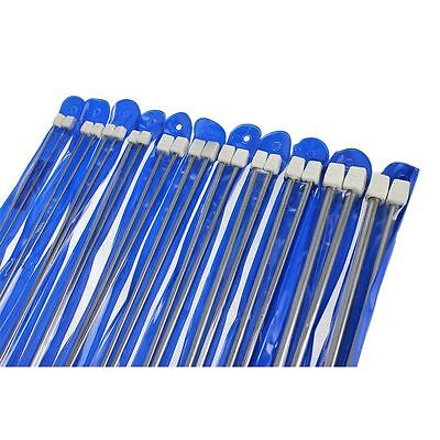 "Set of 22 Pcs Single Pointed Sewing Knitting Needles - 35cm (14"") - 2mm to 10mm"