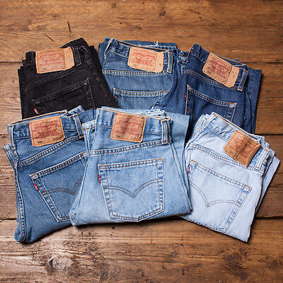 Grade A Levis 501 Vintage Mom Boyfriend High Waisted Womens Jeans 26 27 28 29 L2
