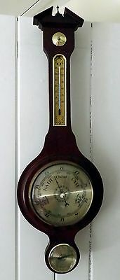 Modern Mahogany? Cased Aneroid Barometer And Thermometer