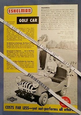Rare ESHELMAN 1957 Golf Sportabout Childs Sport Car Brochure Price Distributor