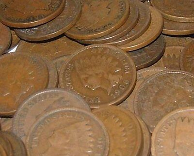 10 Indian Head Pennies Cents Collection Lot Rare Full Date Mixed 1800's 1900's