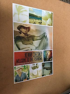 "Kenny Chesney ""welcome to the fishbowl""   promo poster"