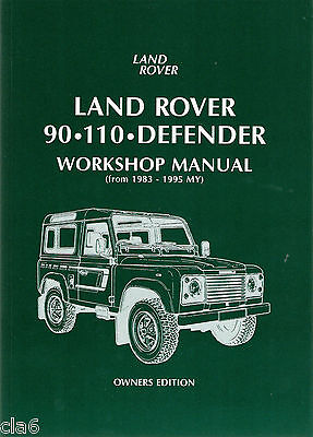 Land Rover 90 110 Defender Owners Workshop Manual Owners  1983-1995 *NEW