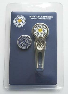 Leicester City Golf Divot Tool And Two Sided Golf Ball Marker - New