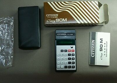 Calculadora antigua Citizen mod Carry 90M made Japon CITIZEN BUSSINES MACHINES