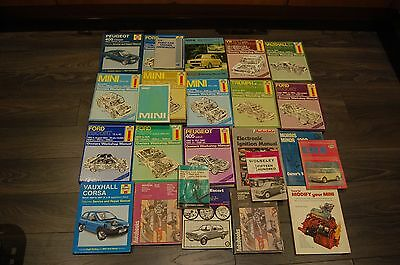 Selection of Haynes and other vehicle manuals
