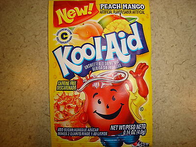 50 Kool Aid Drink Mix *New! PEACH MANGO * Combined Shipping under guidelines!