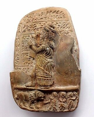 Old Babylonian Ceramic Plaque Mesopotamia circa 1800-1600 BC