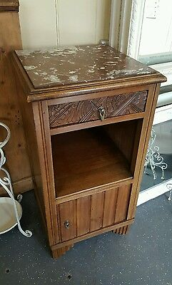 Marble Top French Pot Cupboard.