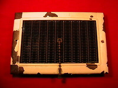 Mid-Century Pull Chain Heat Vent Register - Vintage - Grate - Wall - Furnace