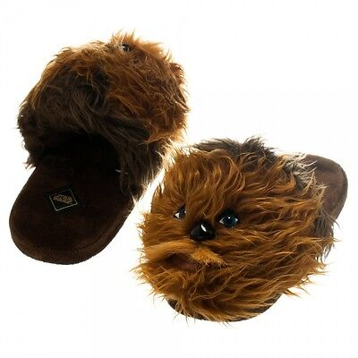 Star Wars Chewbacca Chewie Licensed Adult Slip-On Lounge Slippers - Size 6-13