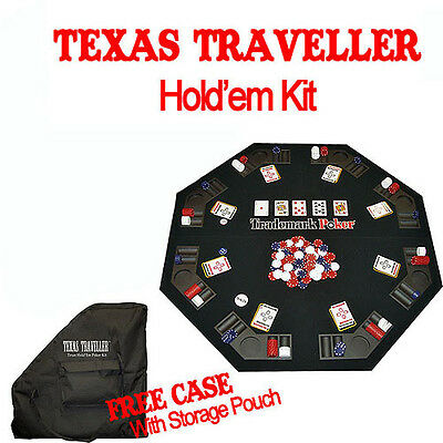 Poker Texas Traveller Table Top and 300 Chip Travel Set