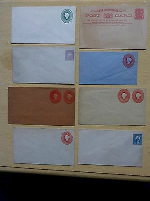Australian States PRE-PAID ENVELOPES WITH QUEEN VICTORIA EMBOSSED HEAD 7 ENVELO