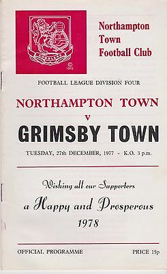 NORTHAMPTON TOWN v GRIMSBY TOWN 1977/78