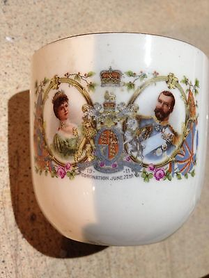 King George V & Queen Mary Coronation 1911 Mug, Possible Mayor of Lancaster