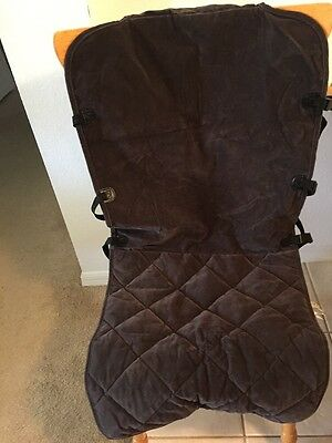 Orvis Dog Pet Microfiber Bucket Car Seat Cover Protector Chocolate Brown VGUC