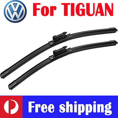 Pair wiper blade windscreen frameless for volkswagen vw TIGUAN 5N 2008 - 2016