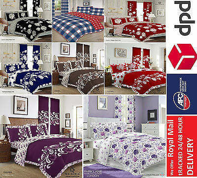 3Pcs Duvet Set Quilt Cover with Pillow Case Bedding set Single Double King Size