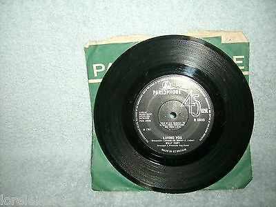 """Billy Fury """" Loving You / I'll Go Along With It """" 1967 -  Parlophone R 5605 - Vg"""