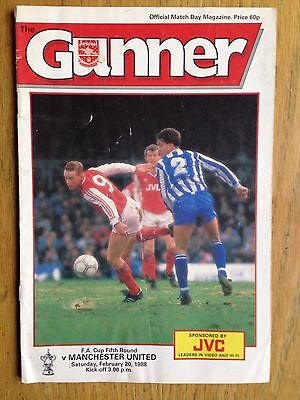 Arsenal v Manchester United 1987/88 FA Cup programme