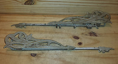 Two Vintage Metal Curtain Rods