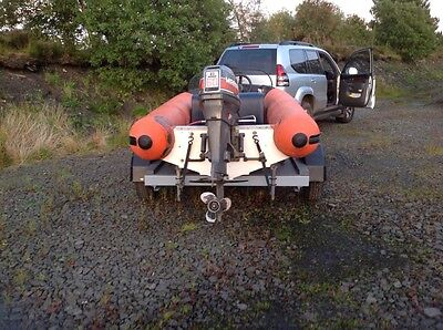 FLATACRAFT FORCE 4 rib boat, fibreglass hull, excellent trailer PRICE REDUCED