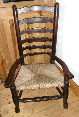 OLD Arts and Craft chair*hand crafted NOT MACHINE*BARGAIN DUE TO MOVING HOUSE