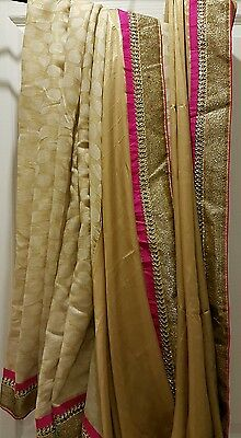 Beautiful Bollywood Pink and Gold Saree brand new with tags