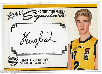 2016 Future Force Gold Signature (FFGS27) Timothy ENGLISH 185/200 W / Bulldogs