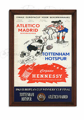 SPURS, Tottenham Hotspur 1963 European Cup Winners Cup Sign,Retro, Wooden Plaque